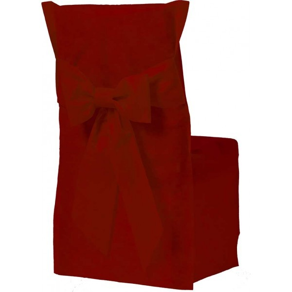 housse de chaise couleur bordeaux x6. Black Bedroom Furniture Sets. Home Design Ideas