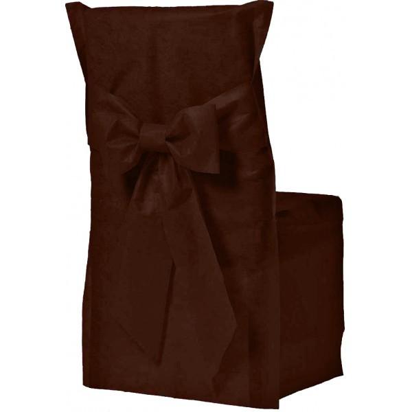 Housse de chaise couleur chocolat x6 - Housse de chaise sur mesure ...