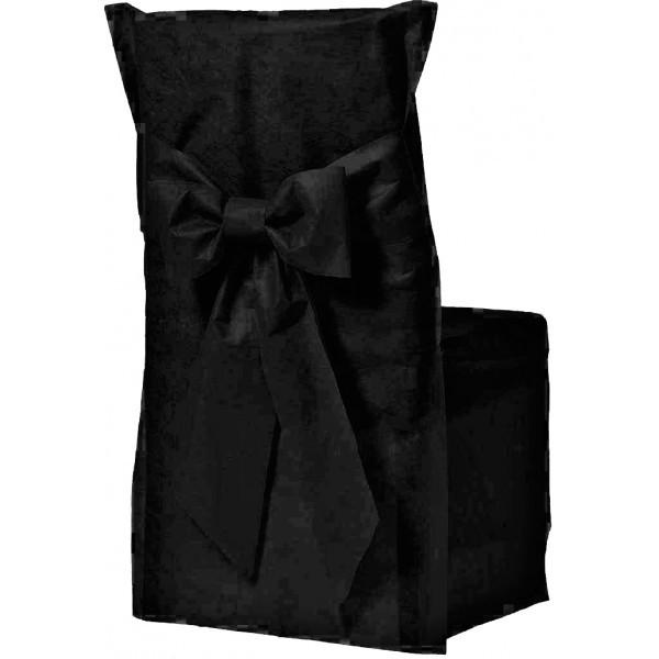 housse de chaise couleur noir x6. Black Bedroom Furniture Sets. Home Design Ideas