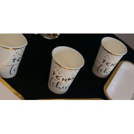 Gobelet tchin Or/Blanc