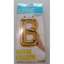 Ballon Alu Lettre B Or