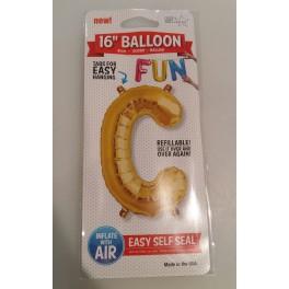 "Ballon Alu lettre C 16"""