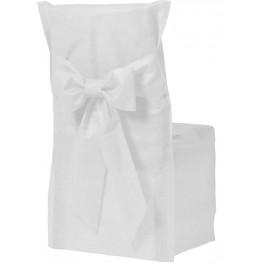 Housse de chaise couleur blanc x6 - Housses chaises jetables ...
