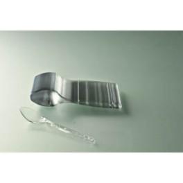 CUILLERE DESSERT PLASTIQUE CRISTAL (x100)