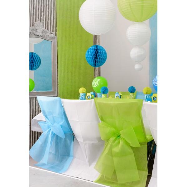 Housse de chaise couleur vert anis x6 - Housse de chaise vert anis ...