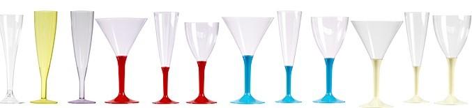 verre pied en plastique flutes champagne jetable. Black Bedroom Furniture Sets. Home Design Ideas